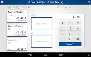 Screenshot of MutualOne Bank Mobile Banking