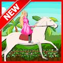 White Horse Ride : Girl Game icon