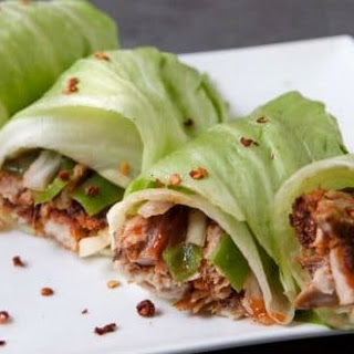 Spicy Pulled Pork Lettuce Wraps.