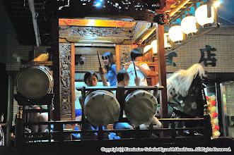 Photo: 【平成20年(2008) 宵々宮】  山車の上での練習は、やはり気合の入り方が違う。