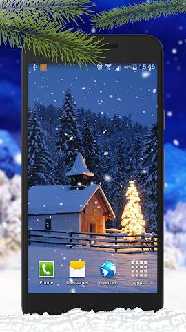 android Schnee Live-Hintergründe Screenshot 3