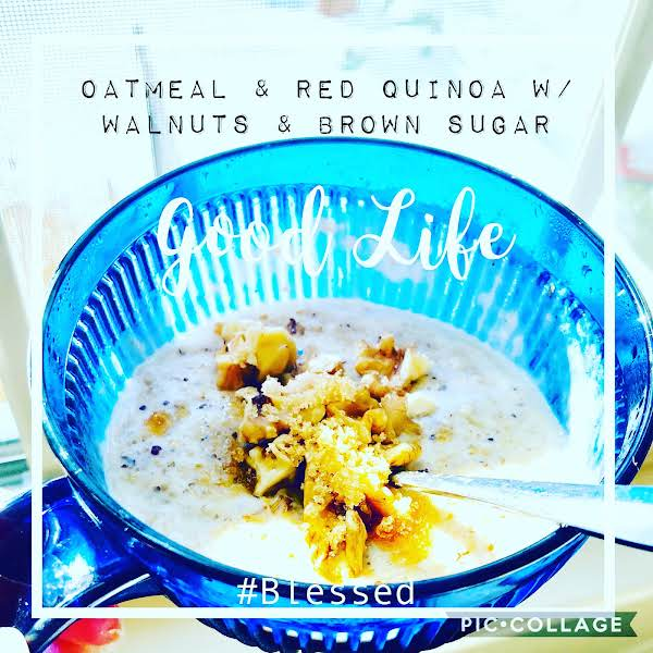 Eggnog Steel Cut Oats With Fruit And Nuts