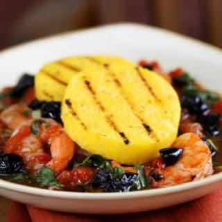 Grilled Polenta with Shrimp & Escarole.