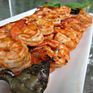 Marinated Grilled Shrimp Skewers