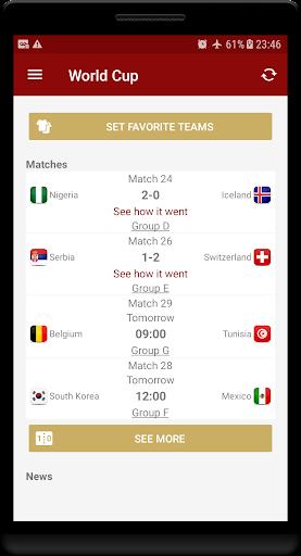 World Cup Russia 2018 - Live Scores & Schedule  screenshots 1