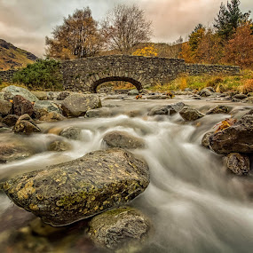overbeck bridge by Lester Woodward - Landscapes Waterscapes ( water, silky, overbeck bridge, waswater,  )