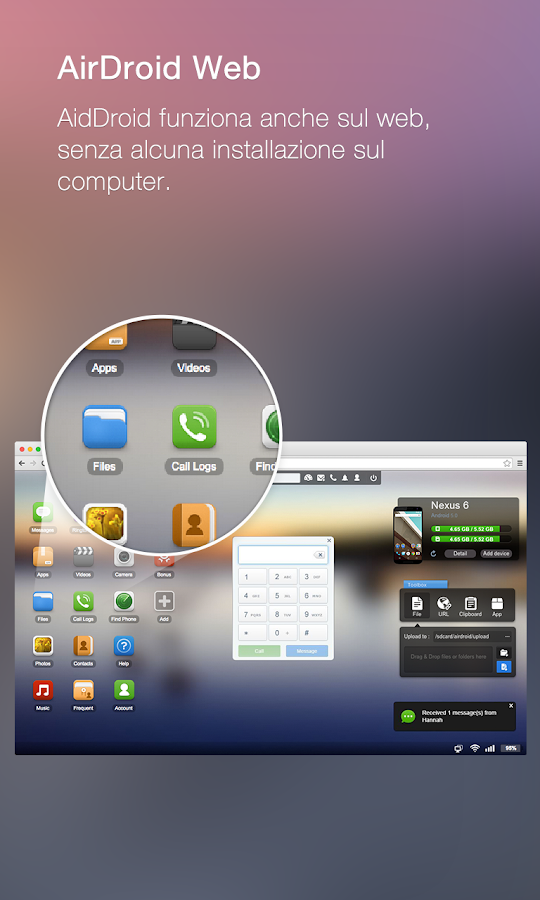 AirDroid: Android sul computer - screenshot