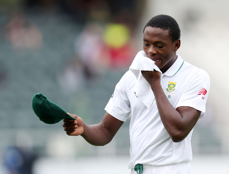 Kagiso Rabada of South Africa during the 2018 Sunfoil Test Series match between South Africa and Australia at Wanderers Stadium, Johannesburg on April 1 2018.