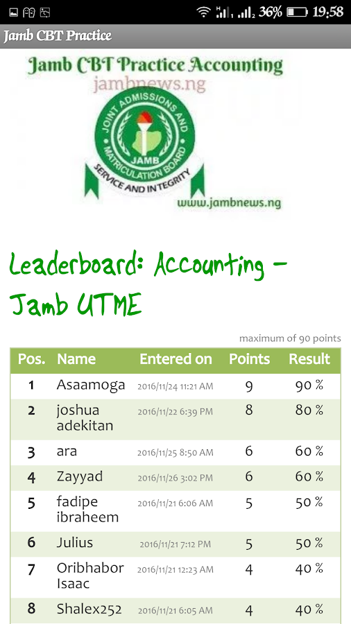 Jamb CBT Practice- screenshot