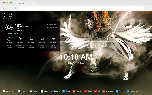 BLEACH New Tab Page HD Pop Anime Theme