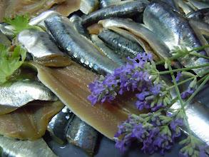 Photo: sardines crues en préparation