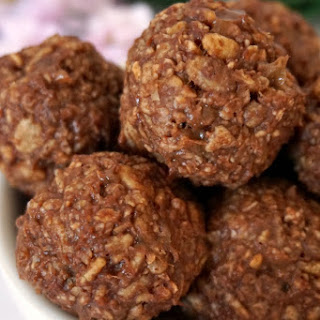 Peanut Butter Balls With Chocolate And Rice Krispies Recipes.