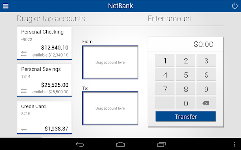 NetBank USA Mobile App- screenshot thumbnail