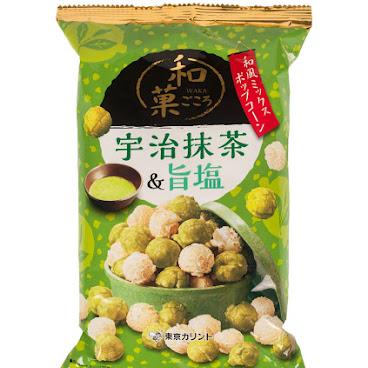 和菓宇治抺茶&鹽味爆谷 65g