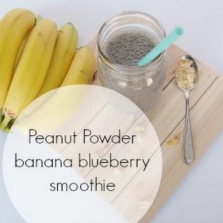 Peanut Banana Blueberry Smoothie.