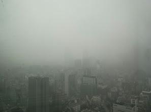 Photo: 雪の朝。東京タワーが見えない。