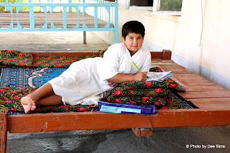 Photo: Day 161 -  Young Girl in Roadside Cafe