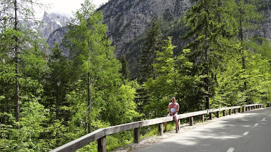 Photo: Fahrrad weg. Jörg hat trotzdem weiter getreten. Der Motivator war immer da.