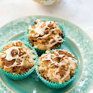 Coffee Cake Muffins with fresh Orange Glaze.