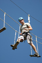 Photo: Swinging Bridge High Ropes Course at Camp Toccoa