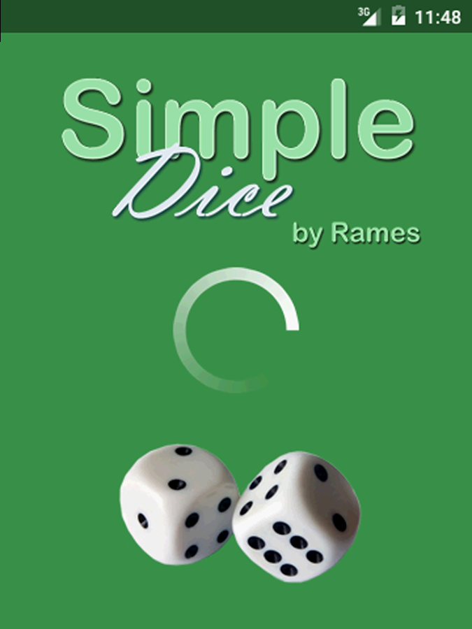 Simple Dice Free- screenshot