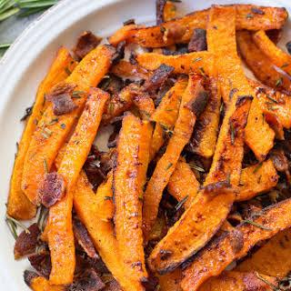 Rosemary Bacon Butternut Squash Fries {Paleo & Whole30}.