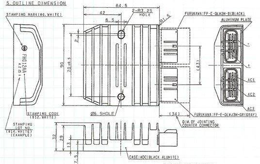 ducati pantah wiring diagram misc electrics regulator rectifier upgrade 900ss 1995  regulator rectifier upgrade 900ss 1995