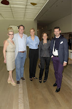 Photo: Susan Trocme, Nadja Swarovski-Adams and Rupert Adams, Manfredi de la Geradescha and Rebecca Camhi  (c) Tinnefeld