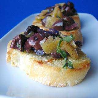 Lemon Confit & Kalamata Olive Bruschetta