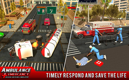 Screenshot for 911 Ambulance City Rescue: Emergency Driving Game in United States Play Store