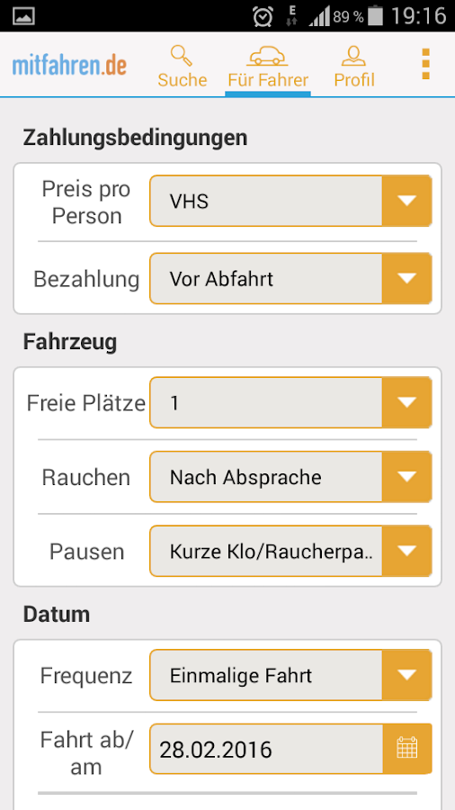 Ridesharing- screenshot