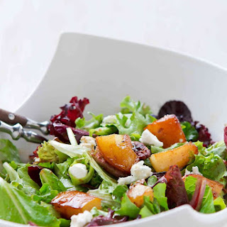 Maple Pear & Goat Cheese Salad.