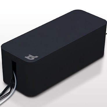 BlueLounge 電線/電拖板收納盒(大) -黑色