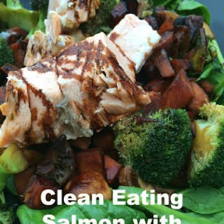 Clean Eating Salmon With Sweet Potato.