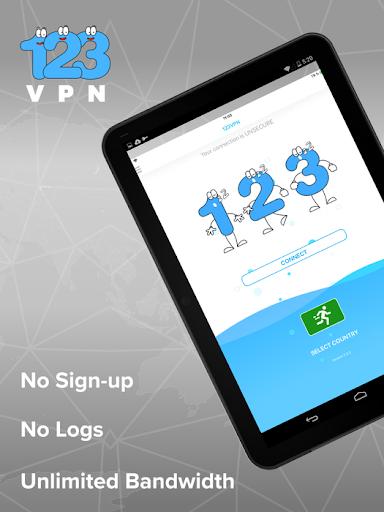 Unlimited FREE VPN - 123VPN 2.7.0 screenshots 4