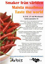 Photo: Taste the World. Food, program and friendship in Mira House 9.3.2013 arranged by Vasa Arbis and Vaasa-opisto.