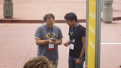 Photo: Steve was really excited to meet the Padlet guy :D