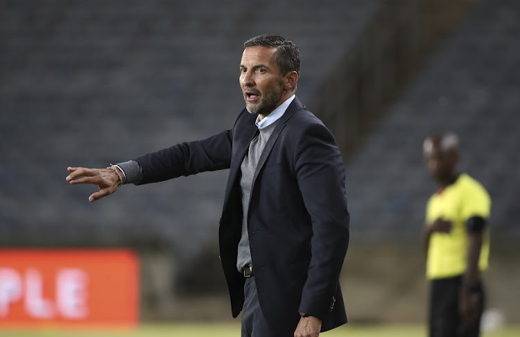 Josef Zinnbauer, Coach of Orlando Pirates during the DStv Premiership match between Orlando Pirates and SuperSport United at Orlando Stadium on November 21, 2020 in Johannesburg, South Africa.