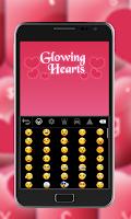 Screenshot of Pink Keyboard Hearts Glow