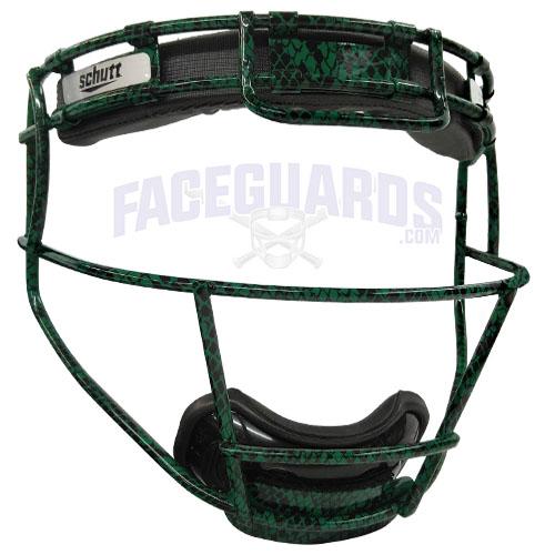 Schutt Custom Forest Green Lizard Skin Face Mask
