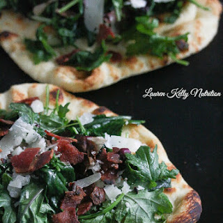 Kale Bacon and Manchego Pizza