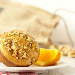 Pancake Muffins with Brown Butter Glazed Walnuts