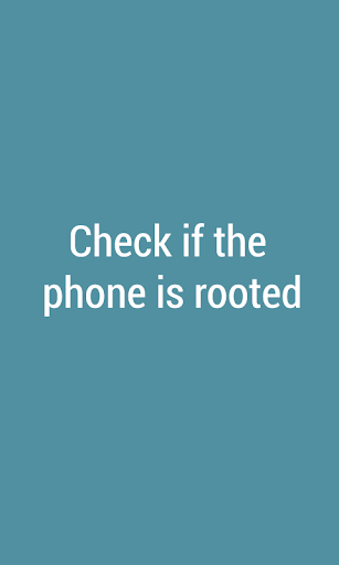 Check Rooted