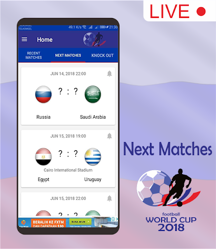 Score & Schedule : World Cup 2018 1.5 screenshots 4