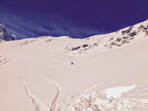 Photo: Lukáš is enjoying the perfect untouched snow on a 36 degree slope