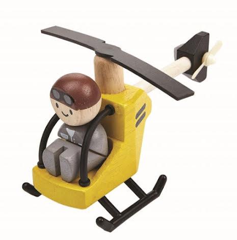 Plan Toys Helicopter med Pilot