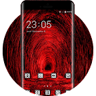Skull bone theme tunnel red black light wallpaper icon