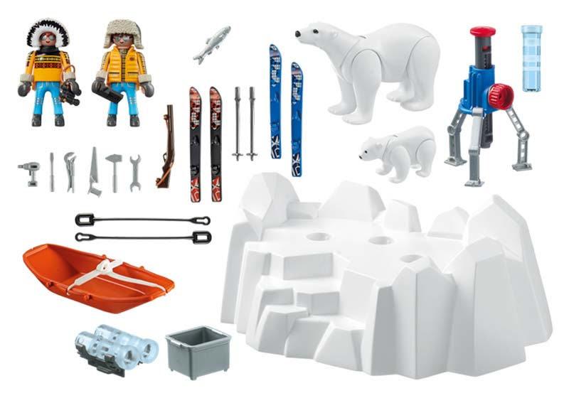Contenido real de Playmobil® 9056 Exploradores con Osos Polares