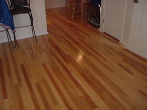 "Photo: 3"" hardwood flooring install."