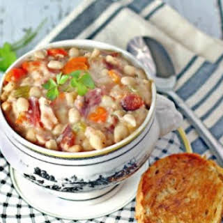 Hickory Ham and Navy Bean Soup.